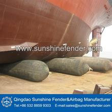 pneumatic type rubber ship balloons, marine balloons for barge launching in Batam shipyard in Indonesia