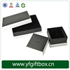 India Oriental Custom Black Paper Gift Packaging Jewelry Box With Clear Lid