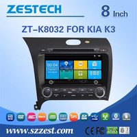 For KIA K3 2013 double din car stereo 8 inch car dvd player Win CE 6.0 OS car gps navigation system with GPS DVD FM/AM USB/SD