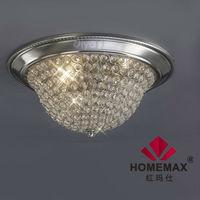 Low ceiling chandelier crystal pendant lamp