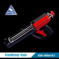 KSN1-380ml 10:1 Double Cartridges and Silicone Double Caulking Gun