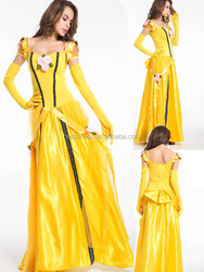 Adult Medieval Renaissance Queen Halloween cosplay Costume dress Long Gown