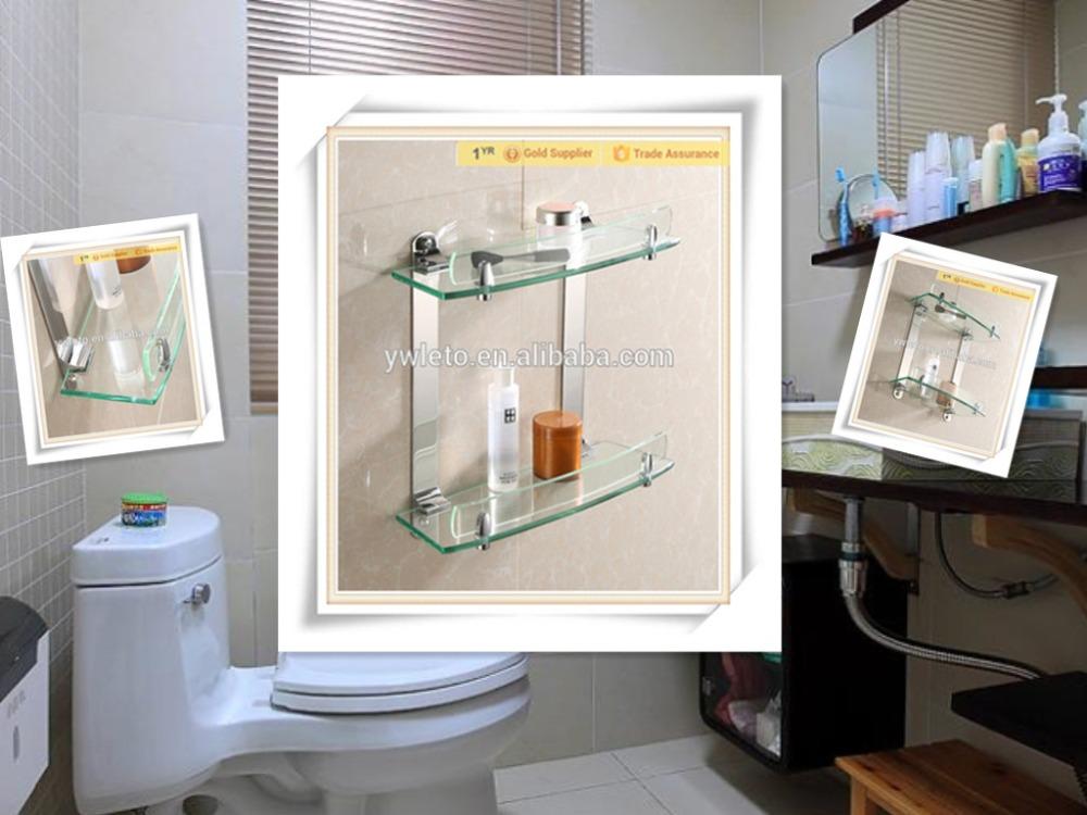 fashonable badkamer accessoires weer te geven rek glazen badkamer ...