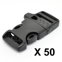 "LIHAO 50 PCS 5/8"" plastic bag buckle Side Release Buckle for Paracord Bracelets With Emergency Survival Whistle (High Quality)"