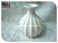 wale shape round ceramic reed diffuser bottle Peramic fragrance oil container