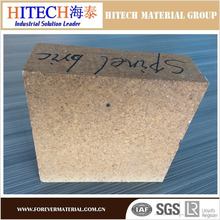 competitive quality zibo hitech Magnesia Alumina Spinel Refractory Bricks with tough texture and high quality of compression res