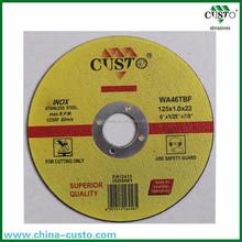 125x1.0x22 Cutting Wheel for metal/steel