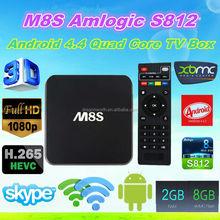 Amlogic S812 2.0GHz H.265 4K BT 4.0 Quad Core Android 4.4 Quad Core TV Box ENY EM8S M8S