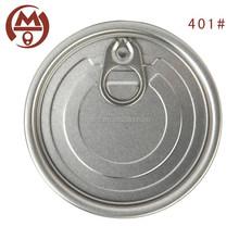 Popular food can easy open aluminum lid 401# full open pop can lid