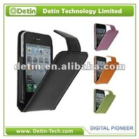Wholesale PU flip leather case for iphone 4S 4G