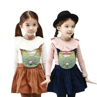 Cheap Kids Suits For Kids Cute Little Cat Braces Skirt The Suit Skirt Outfit Clothing Set Low Price And Good Quality