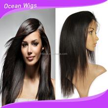 100% virgin unpocessed Human Hair Jewish long wavy band fall kosher wig
