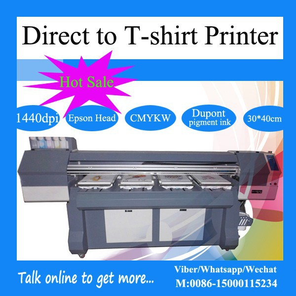 Economic digital dtg flatbed t shirt printing machine with for Epson t shirt printer