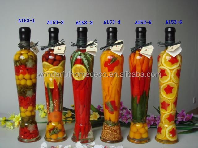 Decorative Fruit Bottles Kitchen