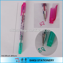 fancy promotion gift glitter 2 in 1 color gel ink ball pen
