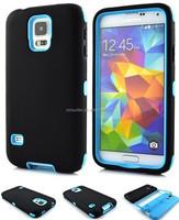 Unique and newest design Silicone & PC 3 in 1 Case for Samsung Galaxy S5 i9600 Laudtec
