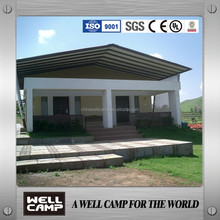 beach resort villa prefabricated house/prefab house concrete villa with decoration wall