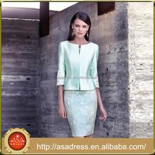 CR33 Elegant Knee Length Mint Green Mother of the Bride Dresses Suits Half Sleeve Lace vestidos de madrina