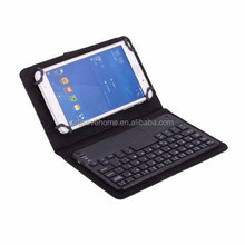 Universal Leather Case with Removable Bluetooth Keyboard