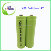 on sale customizable ni-mh aa 600mah 1.2v rechargeable battery