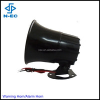 Warning siren horn, loud horn and black 12v loud horn