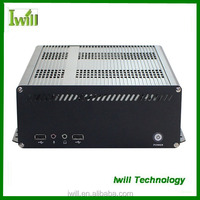 Iwill X8 pure aluminum mini itx industrial pc case with PCI slot