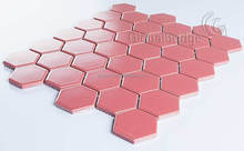hexagon glazed porcelain ceramic mosaic tile