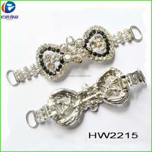 رن تشينغ مصنع hw2215 جمع الأحذية bowknot زينة ملابس والاحذية والحقائب مطابقة جوهرة