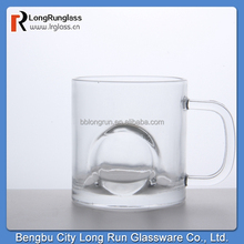 LongRun 341ml glassware tea&coffee glass cup with unusually shaped mug glasses with handle