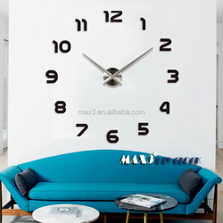 Max3 Original Brand Acrylic Self Adhesive Sticker Wall Clock Wall Decor for Outdoor