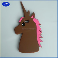 Loverly cartoon unicorn silicone phone case for Samsung S6 mobile phone cover for Iphone 6