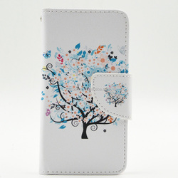 Flip stand TPU and PU leather cell phone case for Samsung Galaxy 9500