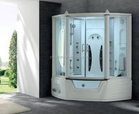 Acrylic Steam Shower cabin combo with spa bathtub for 2 person with MP3 and TV