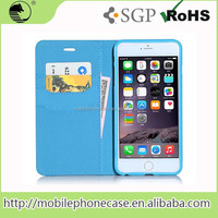 with card slots and money pocket pu leather mobile phone case for iphone 6 plus 5.5 inch