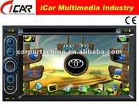 (iCar-6218)HOT Double Din 6.2'' touch screen,GPS,Bluetooth,TV,IPod car dvd player hdmi