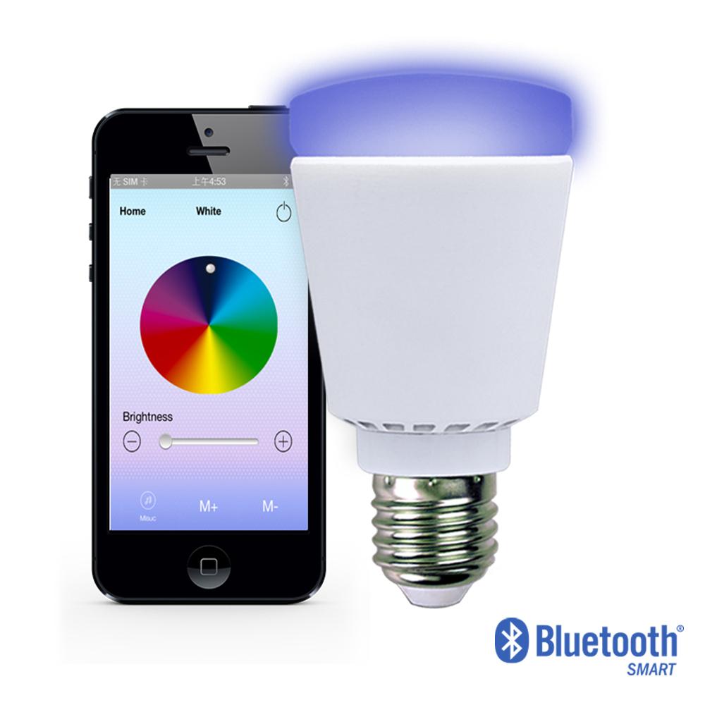 2015 new product bluetooth control led bulb smart lighting for Bluetooth controlled light bulb
