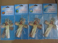 2015 promotion commercial car paper air freshener for jesus