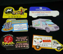 Customized Bus/Truck/Car shape magnet sticker for publicity/promotional/advertising, shaped name card, funny name card
