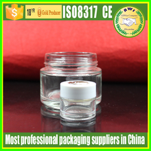 5g 10g 15g 20g 30g 50g 100g wide mouth glass cream jar frosted glass cosmetic jars frosted glass