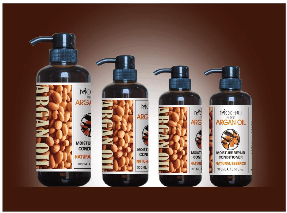 Moda marca salon shampoo para el cabello aceite de argan keratina extracto/cuidado
