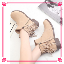 New arrival tassel anckle import from china korean lady fashion boots
