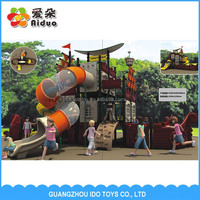 Cheap pirate ship commercail playground sets equipment outdoor used playground slides for sale