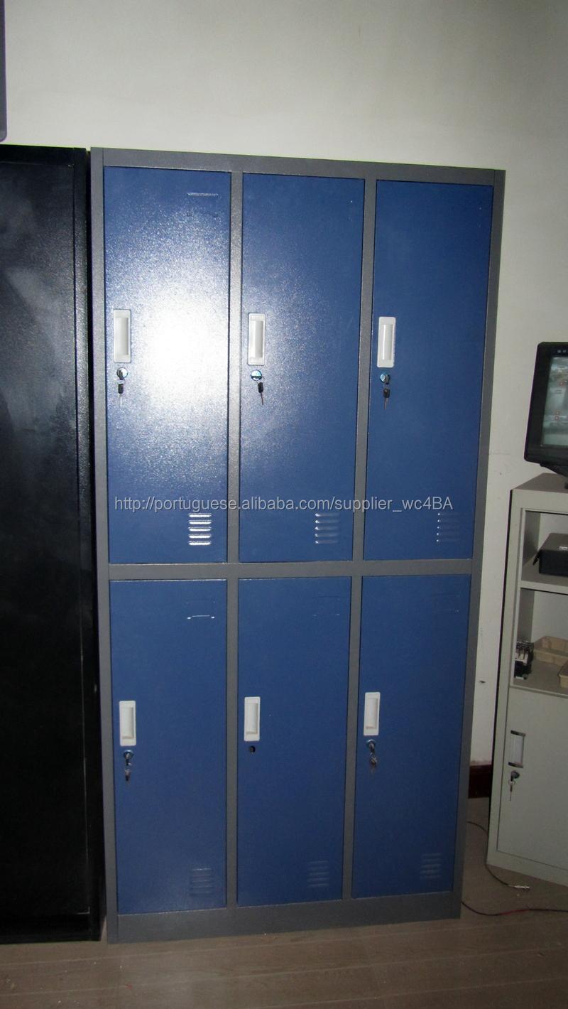 Armario Hemnes Baño ~ Armário Roupeiro De Aço 6 Portas Guarda Roupas P vestiário