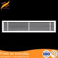 diseño personalizado y color disponible de barras lineales de ventilación de aire rejillas de techo