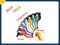 Factory Price Motorcycle accessories 3D Short or Long CNC Clutch Brake Levers For Suzuki Yamaha Honda Kawasaki