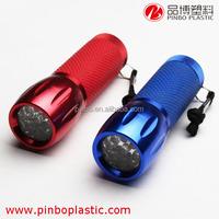 Rubber handle flash led light,battery led flashlight torch,Mini Aluminum 9 Led Flashlight