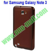 Simple style TPU case for samsung galaxy note 3 III(Brown)