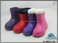 Warm Fur Lining Waterproof EVA Injection Boots for School Boys and Girls