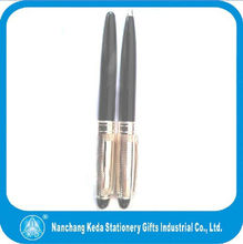 Wholesale high quality shiny silver and black classical metal pen pocket clips