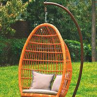 pear shape outdoor rattan egg swing basket chair